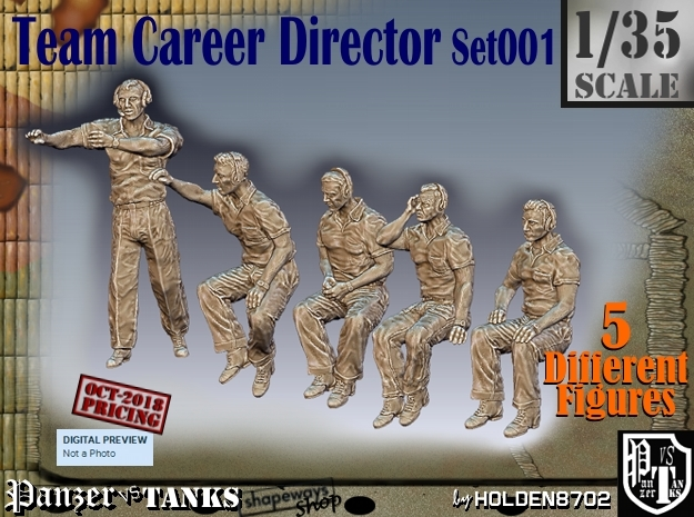 1/35 team career director Set001 in Smooth Fine Detail Plastic