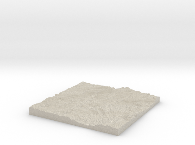 Model of Whiteport in Natural Sandstone