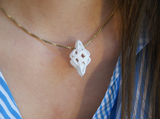"""""""head to head, heart to heart"""" INTENSE, pendant 3d printed"""