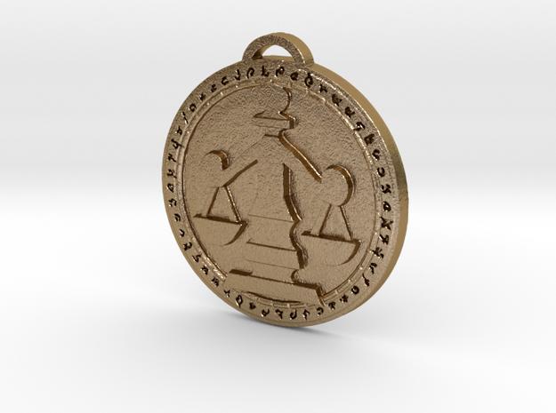 Kul Tiras - Ashvane Faction Medallion in Polished Gold Steel