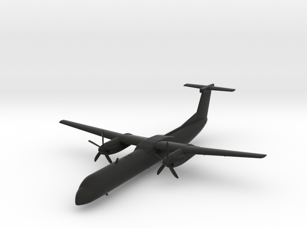 Bombardier Dash 8 Q400 in Black Natural Versatile Plastic: 1:200
