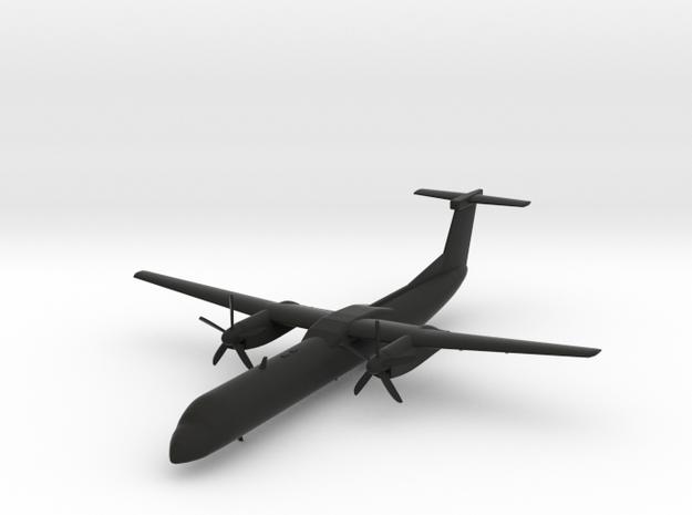 Bombardier Dash 8 Q400 in Black Natural Versatile Plastic: 1:200