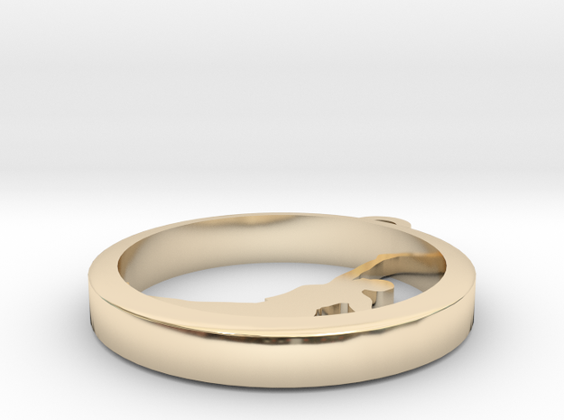 1153hoop (1) in 14k Gold Plated Brass