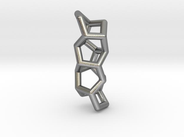 Polytwistane Pendant in Natural Silver: Medium