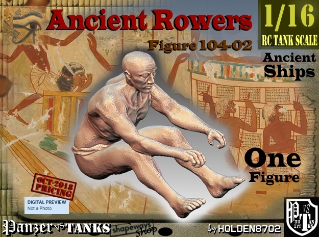 1/16 Ancient Rower fig104-02 in White Natural Versatile Plastic