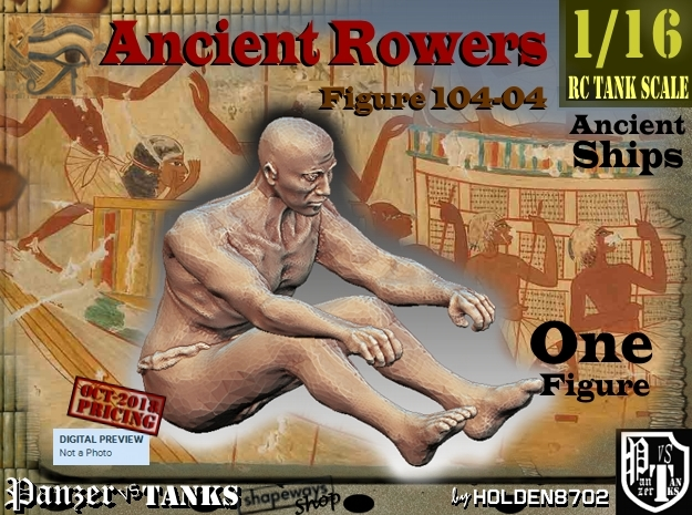 1/16 Ancient Rower fig104-04 in White Natural Versatile Plastic