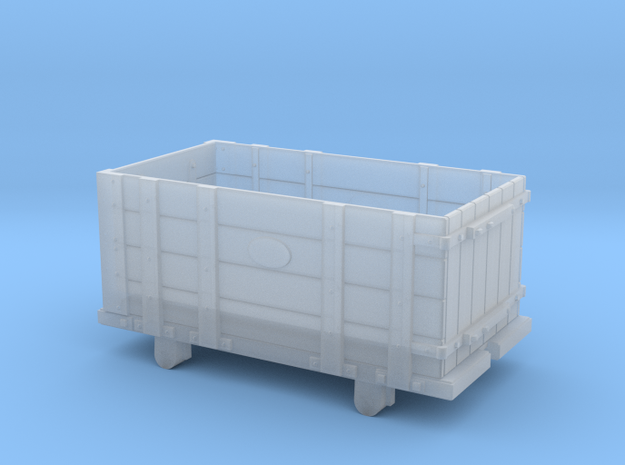 FR Four Plank Wagon 5.5mm Scale in Smooth Fine Detail Plastic
