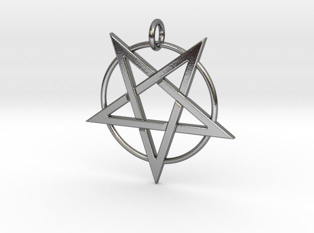 finalscaledpentagram in Polished Silver