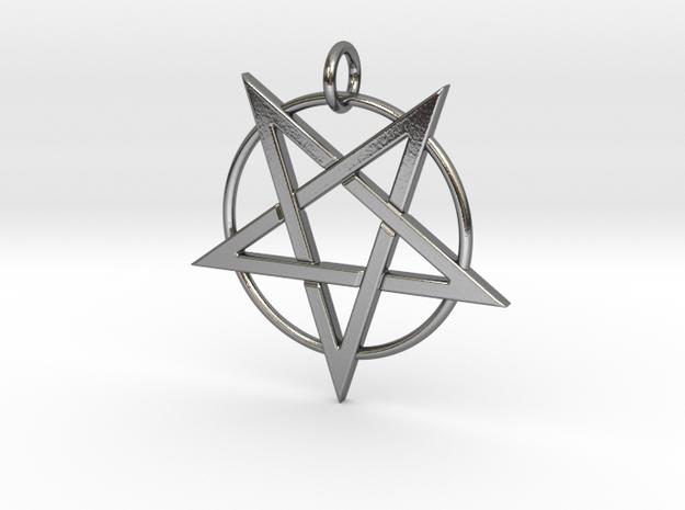 last pentagram4 in Polished Silver