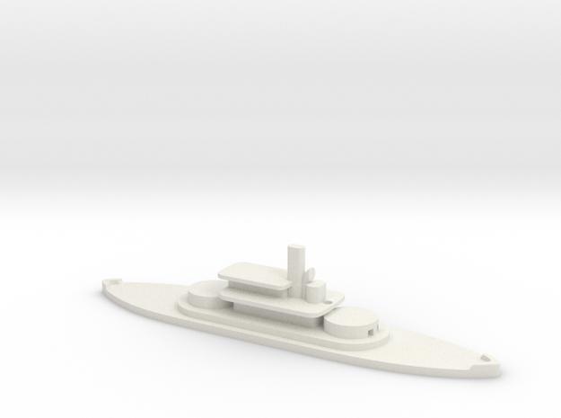 1/1250 HMS Abyssinia (1870) Gaming Model in White Natural Versatile Plastic