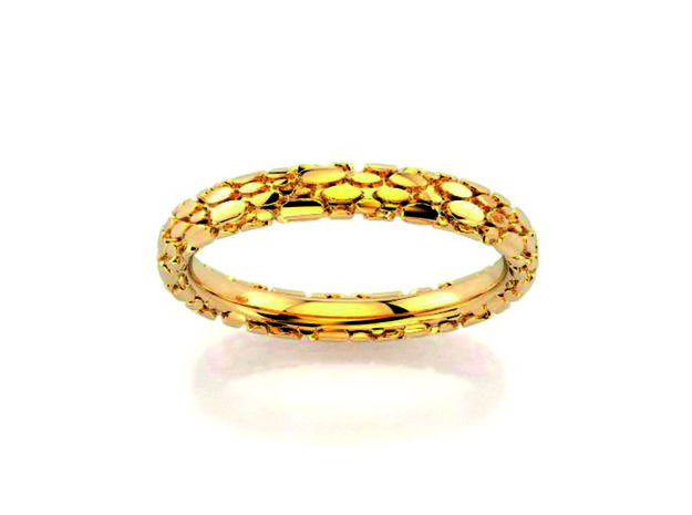 Wedding Ring Snake 3 mm in 18k Gold Plated Brass: 6.25 / 52.125
