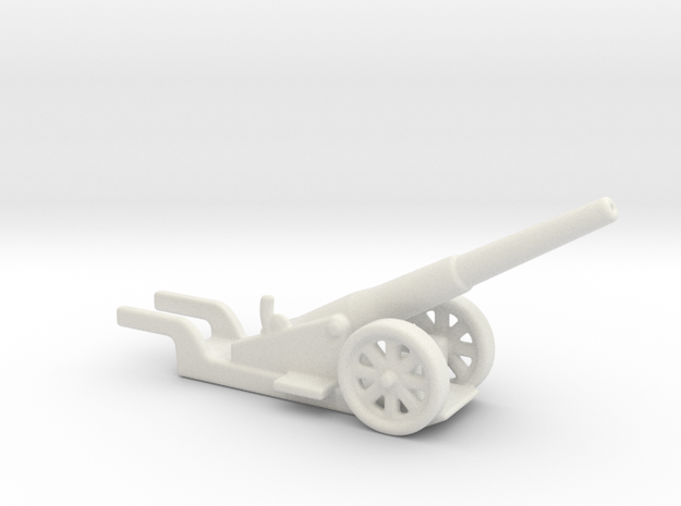 canon de 14cm 1892 saint chamond 1/200  in White Natural Versatile Plastic