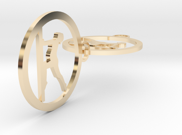 yoga (5) in 14k Gold Plated Brass