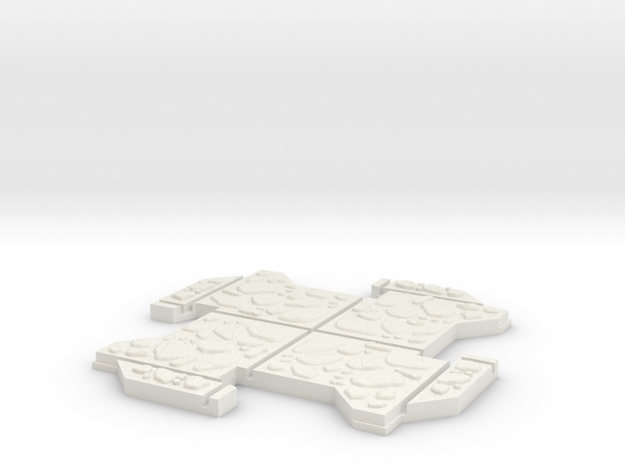 Small Multi Way Dungeon Piece in White Natural Versatile Plastic
