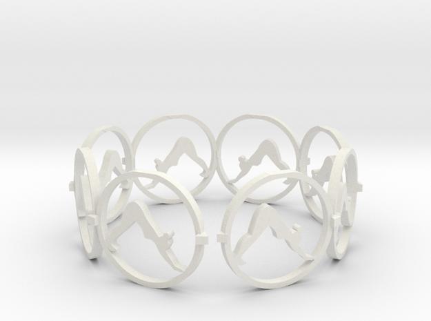 downward facing dog    yoga (2) in White Natural Versatile Plastic
