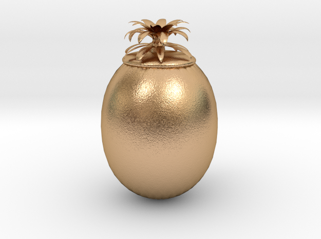Pineapple cup in Natural Bronze