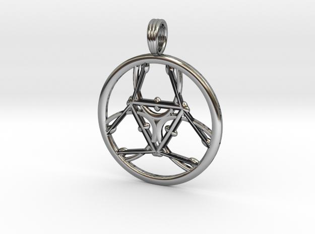 CRYSTAL HEALER in Antique Silver