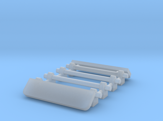 1/64 Two Roof Racks with Wind Deflector 15mm width in Smooth Fine Detail Plastic