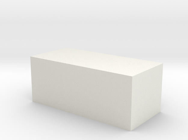 Quad 33 Blank Button in White Natural Versatile Plastic