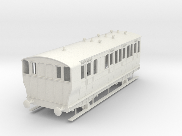 o-43-ger-kesr-4w-brake-3rd-coach-no21-1 in White Natural Versatile Plastic