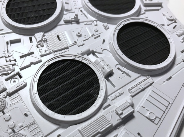 Perfect Grade Falcon 1:72 fan grilles, Koolshade in Smooth Fine Detail Plastic