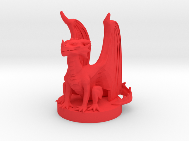 Red Dragon Wyrmling in Red Processed Versatile Plastic