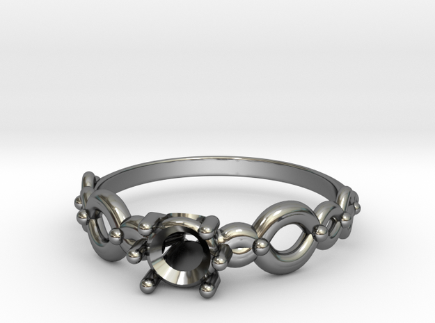 Weave ring in Fine Detail Polished Silver