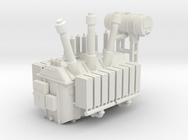 138kV Transformer Assembly - N Scale in White Natural Versatile Plastic