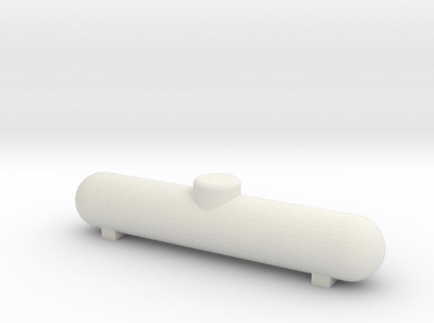 1000 gal Propane Tank HO scale in White Natural Versatile Plastic