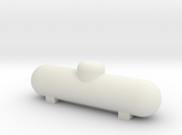 500 gal Propane Tank HO scale in White Natural Versatile Plastic