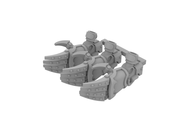 Miniature scale - Iron werewolf Claws LEFT (3pc) in Smoothest Fine Detail Plastic