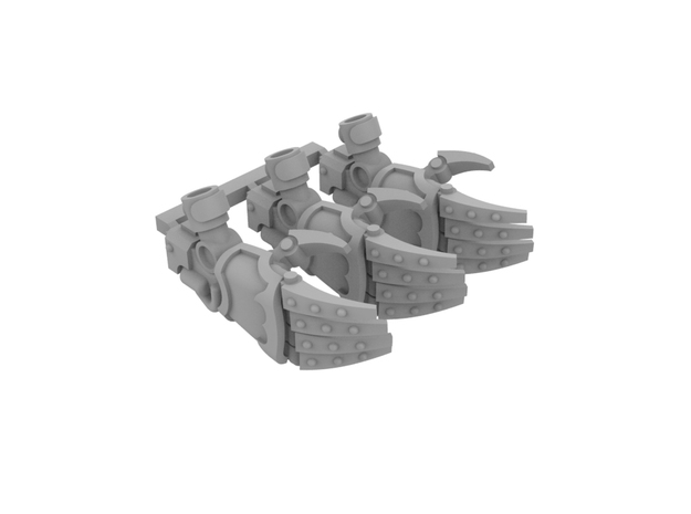 Miniature scale - Iron Wolf Claws RIGHT (3pc)