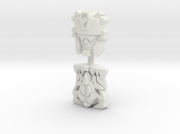 Carnivac Face (Titans Return/PotP) in White Natural Versatile Plastic