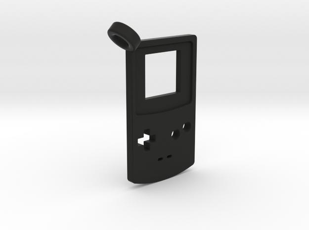 Gameboy Color Styled Pendant in Black Natural Versatile Plastic