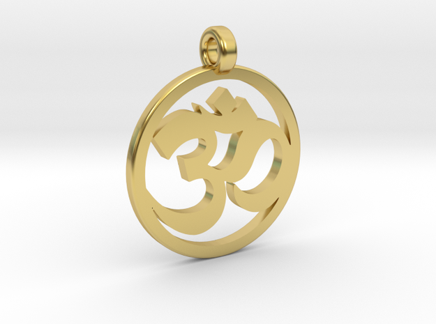 Ohm Pendant in Polished Brass