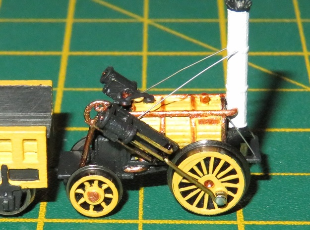 N Gauge Stephenson's Rocket Loco Scratch Aid V1 in Smooth Fine Detail Plastic