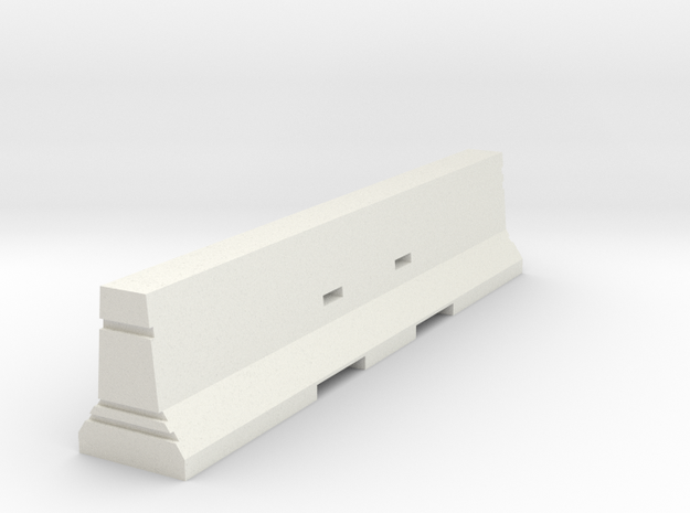 Concrete Barrier 1:50 in White Natural Versatile Plastic