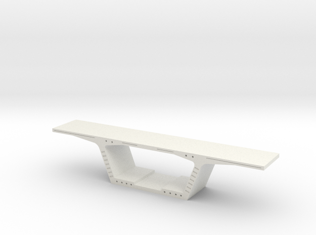 Bridge Segment 1:50 in White Natural Versatile Plastic
