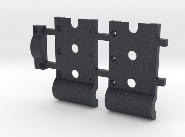 HO Gear Box Case 0.3 mod Double Idler 3mm Axle in Black PA12