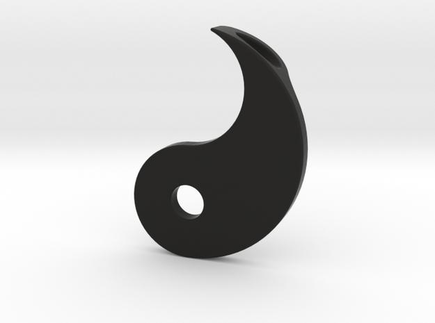 Yin Yang Pendant - Part 2 in Black Natural Versatile Plastic