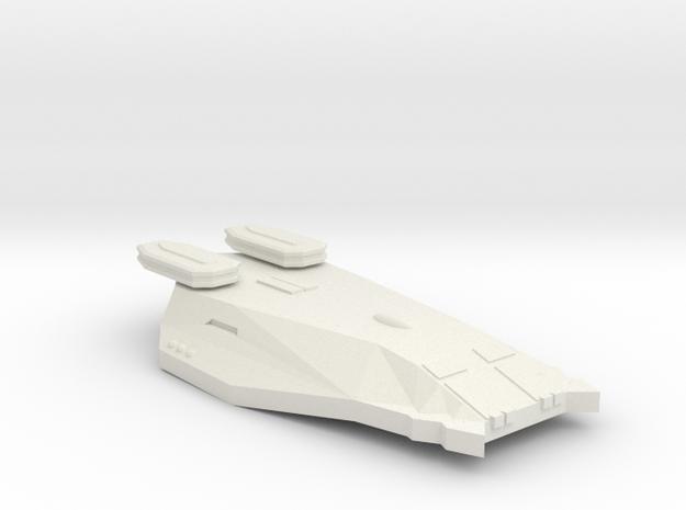 3788 Scale Zosman Heavy Cruiser (CA) MGL in White Natural Versatile Plastic