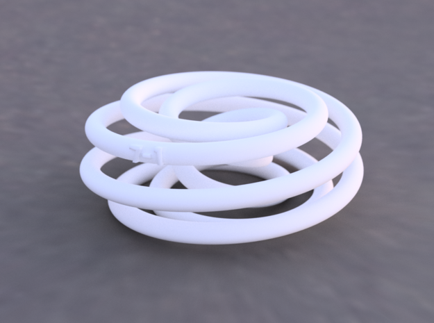 Torus Knot (7,2) in White Natural Versatile Plastic