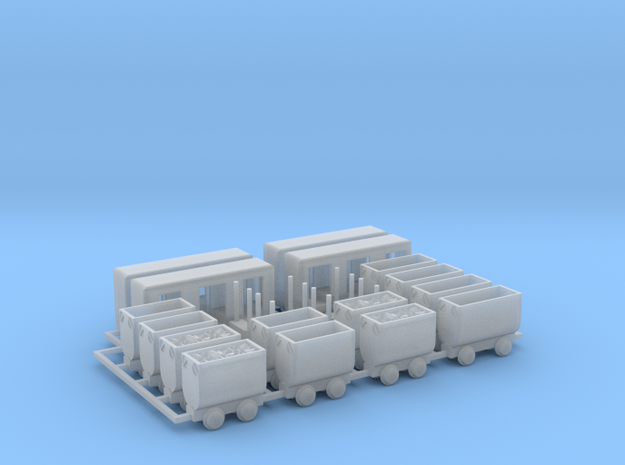 Grubenbahn Set4 - TTf 1:120 in Smooth Fine Detail Plastic