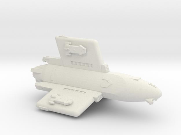 3125 Scale Hydran Pegasus Gunboat/PF Tender CVN in White Natural Versatile Plastic