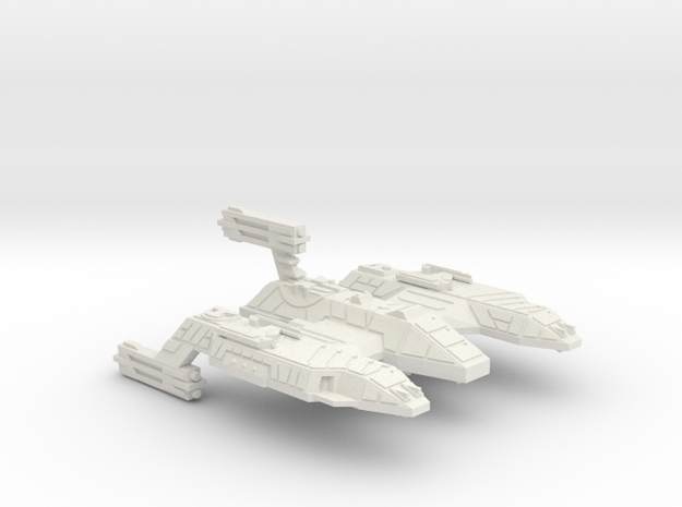 3788 Scale Lyran Refitted Space Control Ship CVN in White Natural Versatile Plastic