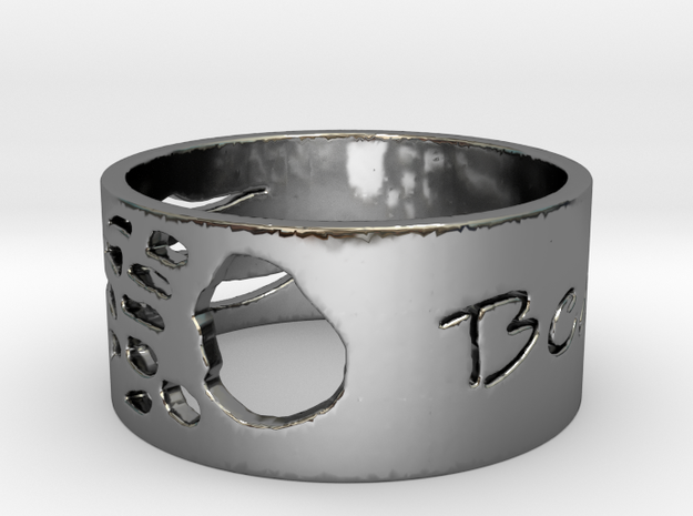 Bears Claw Ring womens sizes in Fine Detail Polished Silver: 8 / 56.75