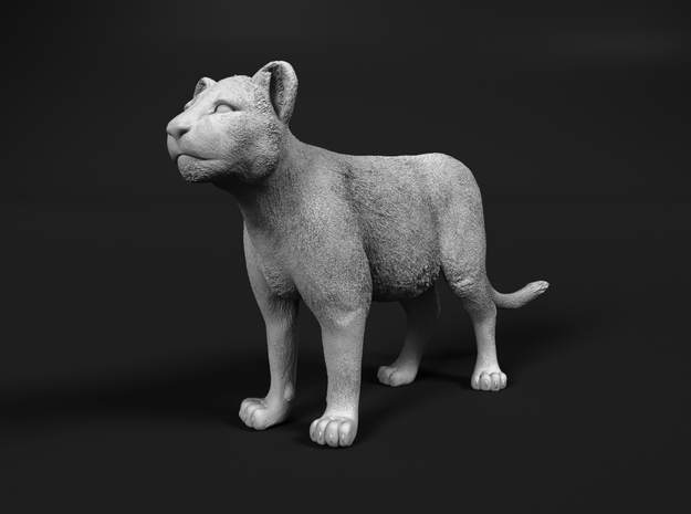 Lion 1:20 Standing Cub in Smooth Fine Detail Plastic