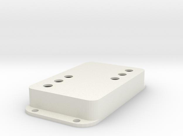 Strat PU Cover, Double Wide, WR-SQ in White Premium Versatile Plastic