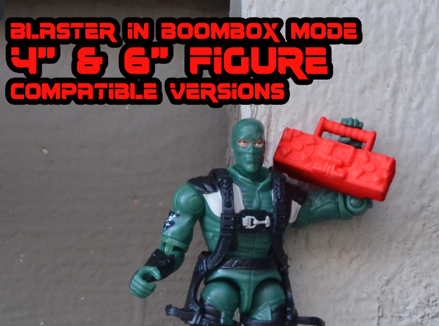 "Titans Return Blaster, 4"" and 6"" figure scales. in Red Processed Versatile Plastic: Small"