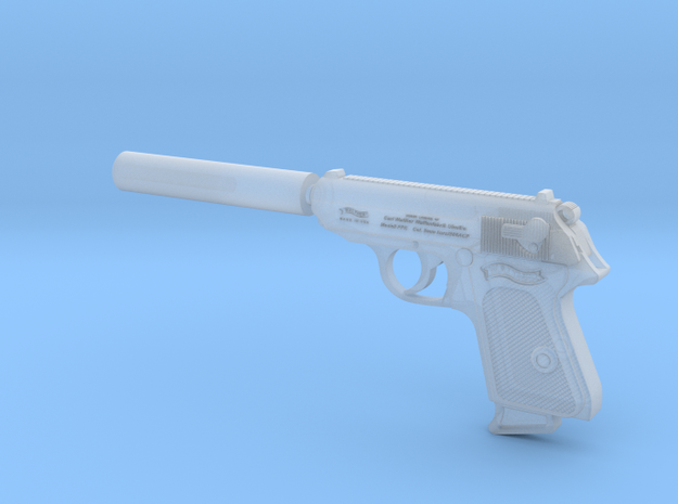 Silenced Walther PPK 1:6 scale